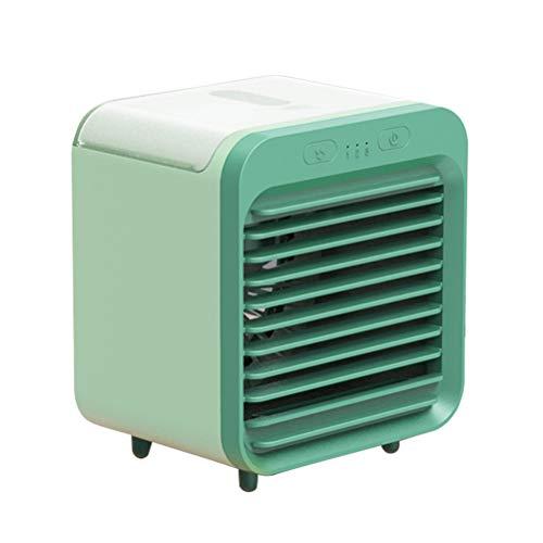 Mini enfriador de aire portátil, acondicionador móvil 3 en 1 de enfriamiento rápido, ventilador de refrigeración de escritorio de 3 velocidades, humidificador purificador para el hogar, dormitorio
