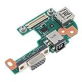 B Blesiya para DELL Inspiron N5110 DC Power Charging Jack Connector VGA USB I/O Board