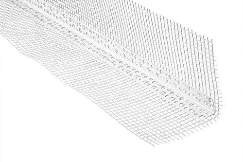 2 Meter | Winkelprofil | Gewebe | Trockenbau | PVC | stoßfest | Lemal | 100x100mm | weiß | PT10