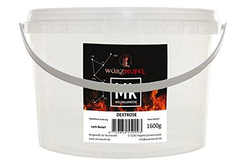 Dextrose, Traubenzucker Glucose - Pulver aus deutscher Herstellung. PE - Eimer 1600g. (1,6 KG)