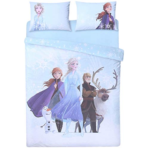 Primark Limited Frozen Duvet Cover Set with Pillow Cases Double/King (Aqua, King)