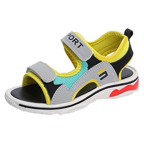 Baby Mädchen Erste Schuhe Baby Pool Sandalen Kleinkind Freizeit Schuhe, Beige - grau - Größe: 27 EU