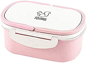 WZHZJ Portable Healthy Material Lunch Box 2 Layer Wheat Straw Bento Boxes Microwave Dinnerware Food Storage Container Food...