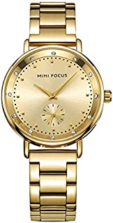 Mini Focus Casual Watch for Women , Analog , Stainless Steel Strap , Gold , MF0037L-01
