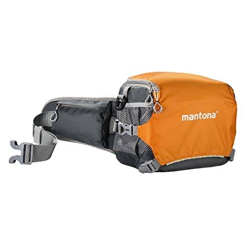 Mantona ElementsPro 20 Outdoor-Kameratasche für DSLR- oder CSC-Kamera orange (Schulter- und Bauchtasche inkl. Regenhülle)