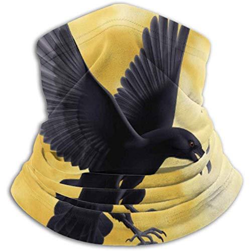 Linger In Cache-Cou Black Crow s'envole sur Foulard Complet, Cache-Cou, Cache-Cou Demi-Masque Cagoule Coiffe