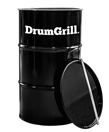 DrumGrill Medium 120L Multifunctional Steel Oil Barrel BBQ Charcoal Grill, Fire Pit, Outdoor Furniture. Lightweight…