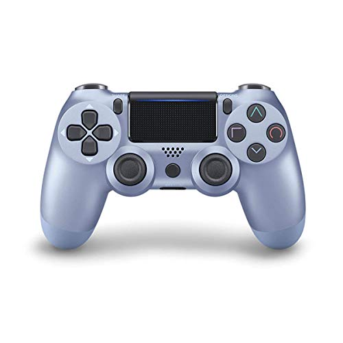 Game Controller for PS4 ( Titanium Blue ) , Dual Vibration Compatible with Windows PC & Android OS , Wireless Bluetooth Controller for Playstation 4