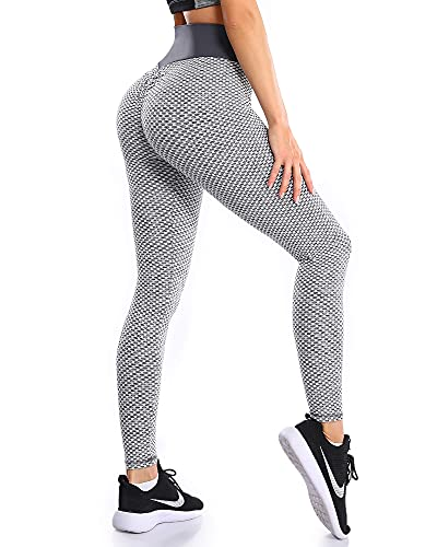 SHAPEVIVA Women TIK TOK Bubble Butt Active Leggings - High-Waisted Booty Scrunched Muffin Control Skinny Workout Pants