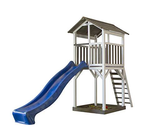 Sunny Kinderspielturm, Kinderspielhaus Basic inkl. Rutsche Spielturm Spielhaus Kletterturm Spielwelt Rutsche Schaukel Stelzenhaus