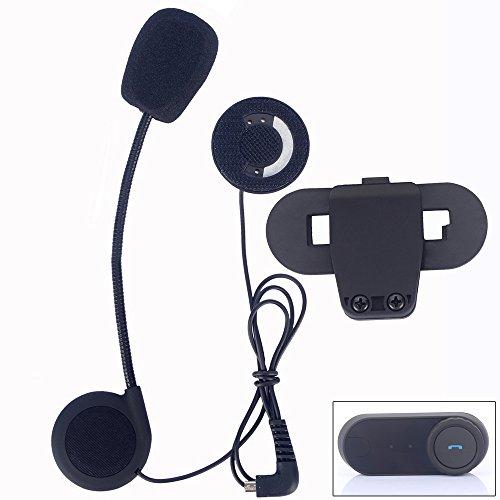 micrófono auricular y Clip Accesorios sólo traje para t-comvb TCOM-SC Bluetooth motorcycel casco de comunicación de auriculares BT Interphone