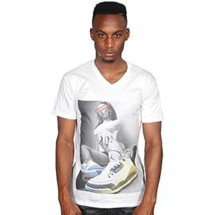 Ulterior Clothing Chicks 'N' Kicks This is Living Jordan Retro 3's Graphic Men's V-Neck T-Shirt