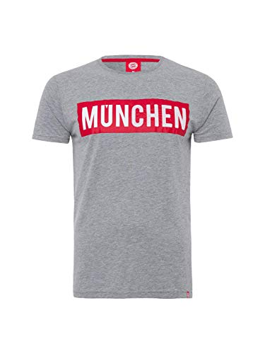 FC Bayern München Camiseta de Múnich de color gris y melange, Hombre,...
