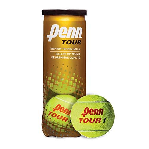 Penn Tour - Regular Duty Felt Hard Court Tennis Ball Cans in Multi-Packs, 3 Balls Per Can (12 Cans = 1/2 Case)
