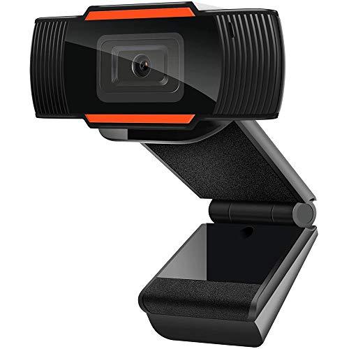 WQY 1080P Webcam, Autofokus mit Mikrofon, USB (2.0) Computer-Kamera für Live-Streaming-Webcam,110 Grad Weitwinkel, 30 fps für Laptop, Rauschunterdrückung, Desktop, Konferenzen (orange)