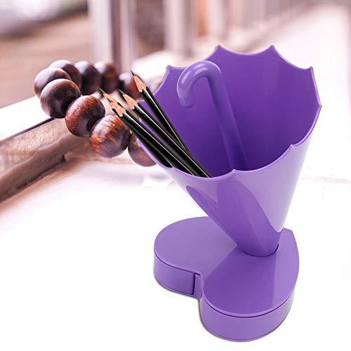Folany Organizador de brochas de Maquillaje, Porta brochas de Maquillaje, Material plástico de Primera Calidad portátil para Oficina, Escuela, hogar(Purple)