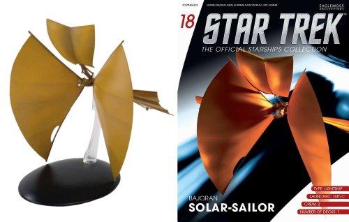 #18 Star Trek BAJORAN SOLAR SAILOR Eaglemoss Die-Cast Metal Shiff + Magazine englisch