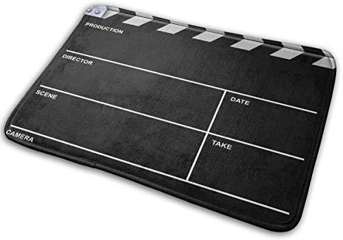 """ECNM56B Claqueta Negra Cine Entrada Alfombrilla Decoración para el hogar Alfombra Rectángulo Interior Felpudo Cocina Alfombrillas Confort 15.8""""x23.6"""""""