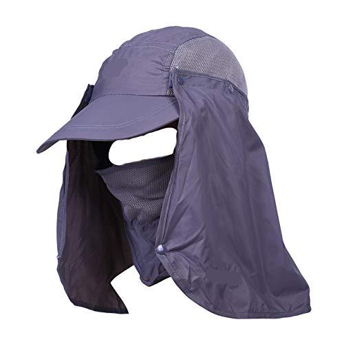 Outdoor 360 Grad Anti Ultraviolett Schnelltrocknung Hut Sommersonne Hut Dschungel Hut Fischer MüTze MäNner Und Frauen 紫色