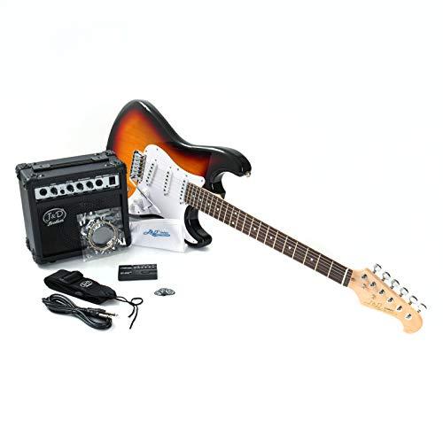 J & D E-Gitarre ST Pack SB Sunburst