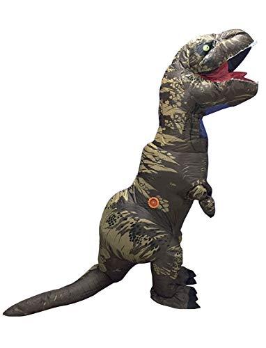 TrendClub100® Aufblasbares Dinosaurier Kostüm Dino T-Rex mit Ventilator (Dinosaurier)
