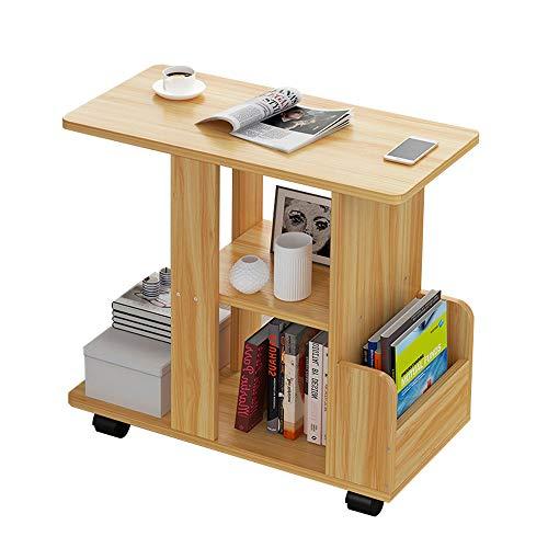 Bijzettafel Slaapkamer nachtkastje, Kan worden gebruikt als een koffietafel, Computer Bureau, Bureau, Locker, Het Universele Wiel is geïnstalleerd aan de onderkant voor eenvoudige beweging. Woonkamer
