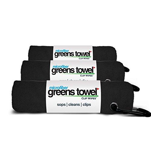 Greens Towel 3 Pack Black  ...