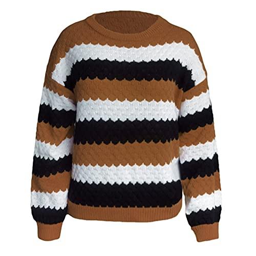 SHOBDW Sudadera Jersey para Niñas y Mujeres Slim Fit Estampada Suéter Corto Caliente Sudadera Jersey Invierno Mujer Abrigos Deportivos Liquidación Venta Invierno Mujer(Khaki,S)