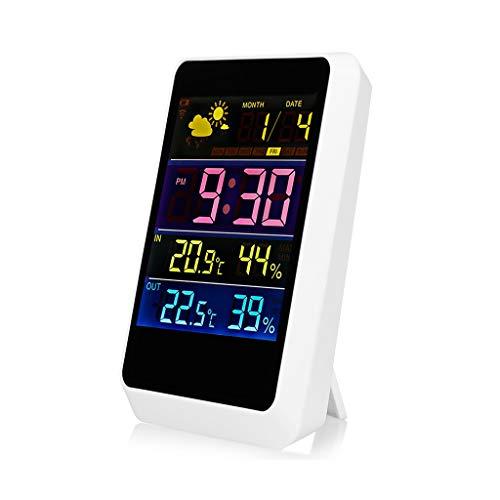 XF-B Inalámbrico Hogar Digital Termómetro LCD Higrómetro Snooze Reloj Despertador Sensor Remoto Pronóstico del Tiempo Estación Meteorológica Inteligente