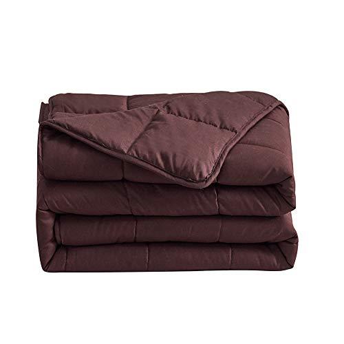 CNMF Gewichtete Decke Kuscheldecken Weighted Blanket Anti Stress für Schneller und Besser Schlafen, Ideal für Entspannung 100{7fff1da6555e2d6eea55455eb02436e0991f40ecccd6f3356ba97828516558bb} Baumwolle, Besseren Schlaf für Erwachsene und Kinder,Braun