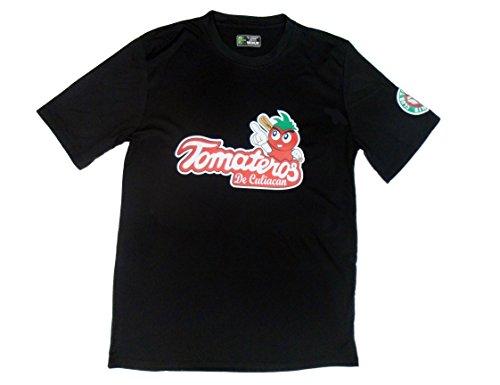 Tomateros Baseball Men's Slim Fit Jersey de Culiacan (Medium) Black