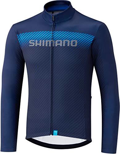 SHIMANO Herren Trikot Sh Thermico Team M Marineblau
