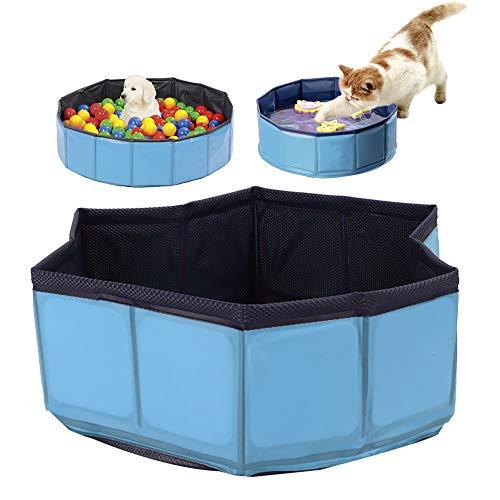 Yolispa Piscina para Mascotas Perros Plegables Portátiles Gato Bañera Grande Bañera de Lavado PVC a Prueba de Fugas para Interiores Y Exteriores