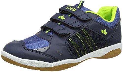 Lico Filou V Unisex Kinder Multisport Indoor Schuhe, Marine/ Lemon, 30 EU