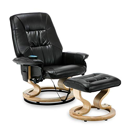 More4Homes Tuscany Bonded Leather Swivel Recliner Massage Chair