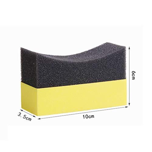 AERVEAL Almohadillas aplicadoras de aderezo de Contorno de neumático de 6 Piezas, Cera de Esponja pulidora de Color Brillante Brillante