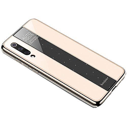 Miagon Überzug Hülle für Huawei P20 Pro,Glänzend Glitzer Überzug Plating Rahmen Ultra Dünn Hart PC Handyhülle Schutzhülle Tasche Weich Case Bumper für Huawei P20 Pro,Gold