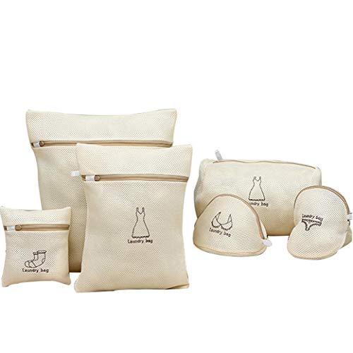 Hiinice Bolsa de Malla de lavandería para Ropa Delicada Conjunto Lavadora Almacenamiento de Viajes organizan Ropa Ropa Interior Calcetines 5PCS