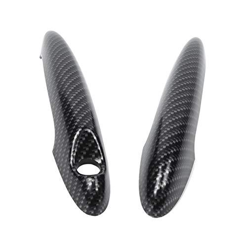 Weiyang 2 unids de fibra de carbono Cubierta de la puerta de la puerta de la puerta de la fibra de carbono Ajuste exterior para BMW Mini Cooper S R50 R52 R53 R55 R56 R57 R58 R59 R61