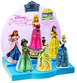Disney Jim Shore Traditions - Sonata Princess Collection ~ 6 Princesses, Musical Base, and Displayer