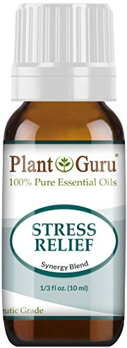 Stress Relief Blend Essential Oil 10 ml 100% Pure, Undiluted, Therapeutic Grade. Anxiety, Depression, Relaxation, Boost Mood, Uplifting, Calming, Aromatherapy, Diffuser.