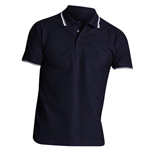 Sols Herren Practice Pique Polo-Shirt, Kurzarm (XLarge) (Marineblau/Weiß)