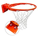 ProSlam Heavy Duty Wall Mounted Basketball Rim, 18 inch Professional Double-Spring Hanging Basketball Goal Fits Indoor and Outdoor Wall