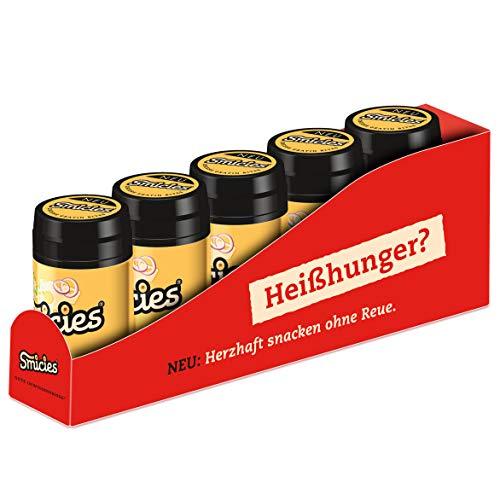 Smicies - Mini Snacks mit Käse Gratin Geschmack, Snacken ohne Reue mit nur 2 Kalorien – Proteinreich & Fettarm, 5 Dosen à 60 Stück