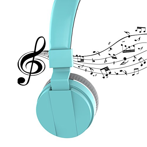 On Ear Headphones, Marvotek Stereo Headphones for Girls Wired Headphones with Mic Foldable Headphones Lightweight Headphones for Kids Photo #4