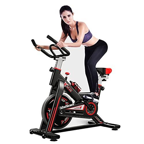 Spinning Bike Bicicleta De Ejercicio, Bicicleta De Ciclismo Interior Estacionaria, Bicicleta De Fitness con Volante Pesado , Cojín De Asiento Cómodo, 150 Kg / 331 LB De Capacidad