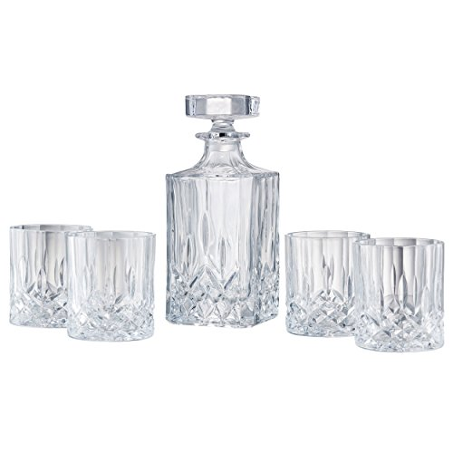 Artland Windsor Whiskey Decanter 5 Pieces Set, Clear