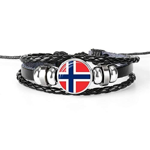 Flag Bracelet Bracelet Men And Women Jewelry Friendship Gift For Football Fans Hyococ (Color : NORWAY)