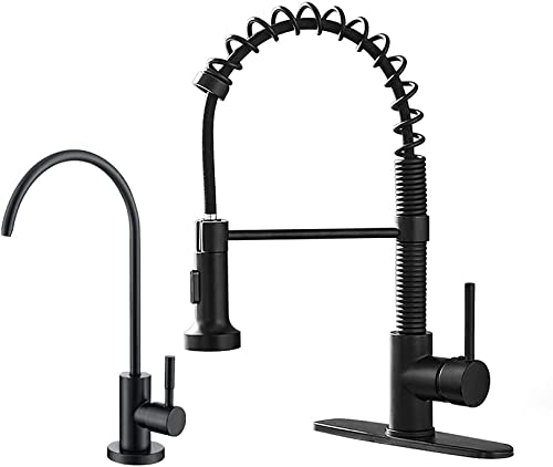 high quality OWOFAN Matte Black Kitchen 2021 Sink Faucets Pull Down Sprayer with RO Faucet Water Filter Faucet outlet online sale Product Bundles online