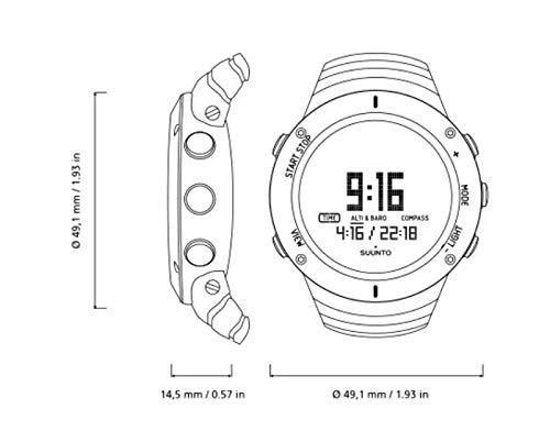 SUUNTO(スント)スントコア腕時計高度計気圧計コンパス温度ウェザーアラームシュノーケル用深度メーター搭載SS021371000UltimateBlack[並行輸入品]